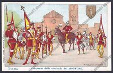 SIENA CITTÀ 49 PALIO Contrada del Montone COSTUMI Cartolina 1900