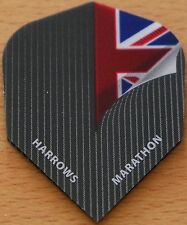 "5 Sets (5X3) Harrows Marathon ""Pin Stripe Union Jack"" Dart Flights."