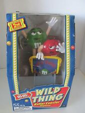 NIB M & M Candy Dispenser 2nd Edition Wild Thing Roller Coaster M&M's