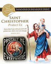 SAINT CHRISTOPHER MAGNETIC / SELF ADHESIVE PROTECT ME CAR PLAQUE GUARDIAN ANGEL