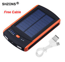 6000mAh USB Solar Power Battery Charger for Samsung iPhone Android Mobile Phone