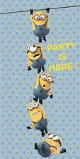 Lovely Minions The Party is Here Door Banner Poster - Personalise