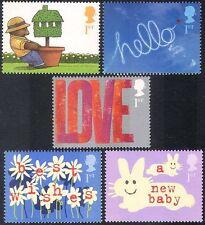 GB 2002 Saluti/Piano/Aeromobile/Coniglio/Orsetto/bambino/Love 5v Set (b6283)