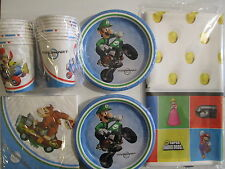 SUPER MARIO BROS. Wii - Birthday Party Supplies Set Pack for 16 w/ Invitations