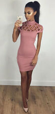 USA Women Bandage Bodycon Sleeveless Evening Party Cocktail Pencil Mini Dress