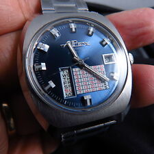 NEW  OLD STOCK GERMANY MADE APEX CALENDAR AUTOMATIC MEN WATCH
