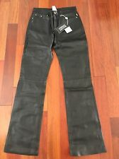 Versace Jeans Couture 100% Leather Black Women's Casual Pants size 29 NWT $555