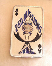 1980'S MADE 250 MISSIONS PHANTOM TO F-4 VIETNAM BLUE EMB ON TWILL ACE OF SPADES