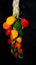 Mexican Habanero Red/Green/Yellow Chile Pepper Kitchen Hanging Decor Jalapeno