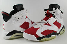 Nike Air Jordan Retro VI CDP 6 Carmine Red White Black Size 9