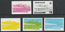 Grenada 2591 - 1975 Cocoa Beans 6c set of 5 PROGRESSIVE PROOFS unmounted