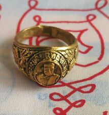 Ring  LP Tuad Buddha Talisman Wealth Luck Protect Life Thai amulet Size 56 mm.