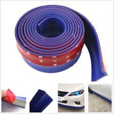 2.5M Universal BLUE Car Front Bumper Quick Lip Splitter Protector Body Kits