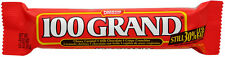 100 Grand Candy Bar 24ct Crunchy Chocolate Chewy Caramel FREE SHIPPING