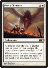 4X Path of Bravery - LP - M14 Core Set 2014 Magic Cards MTG White Rare