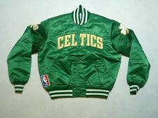Vintage Starter Boston Celtics NBA Team Basketball Satin Jacket Coat Mens Large