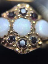 Antico ametista e Opal Anello