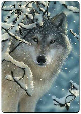 Winter wolf fridge magnet.