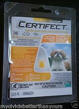 Frontline CERTIFECT Flea Lice Tick Mange Remedy for Dogs 5-22 lbs 1 Month Dose