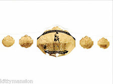 Fantasy Football Championship Belt Trophy Prize White/Gold.
