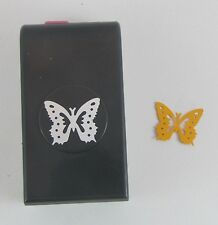 "EK SUCCESS TRIPLE BUTTERFLY! Paper Punch Lock-Down Style Punch 3 ways 1.25"" wide"