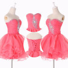 FREE SHIP Beaded Short Mini Party Dress Homecoming Prom Party Cocktail Dresses