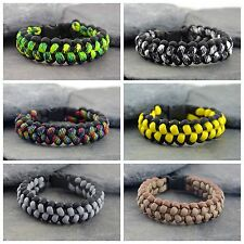Stiched Cobra Weave Paracord Survival Bracelet Friendship Bracelet UK
