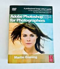 ADOBE PHOTOSHOP CS4  FOR PHOTOGRAPHERS BY MARTIN EVENING PAPERBACK WITH DVD