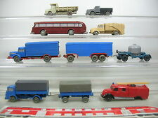AE703-1# Wiking H0 Hobbyist's Job Lot Trailer/trucks/Pullman Bus unglazed