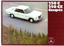 Mercedes-Benz 250 C CE Coupe W114 1969 UK Market Sales Brochure
