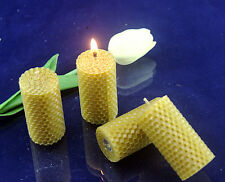 6Pcs Hand-Rolled 100% natural beeswax candle with