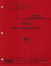 ONAN NB  ELECTRIC GENSETS SERVICE  MANUAL 1973   940-500