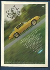 """Vintage 1981 Chevy Camaro The Hugger """"Don't Give Up the Zip""""  magazine ad"""