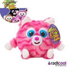New! Zigamazoo Pink Cat Cuddly Plush Soft Toy Squeeze to Giggle No Batteries Req