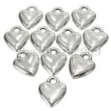 50Pcs Heart Shape Pendants Charms Ciondolo Collana per DIY Gioielli Risultati