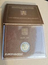 VATICAN, VATIKAN, VATICANO 2011, 2 EURO BU COMMEMORATIVE EN COFFRET OFFICIEL