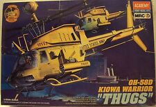 "Academy 1/35 Bell OH-58D Kiowa Attack US Army ""Thugs"" Helicopter Kit #2197 Mint"