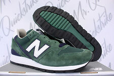 NEW BALANCE 996 SZ 10 HERITAGE MADE IN USA DARK GREEN NAVY WHITE M996CSL