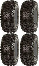 Four 4 Sedona Rip Saw ATV Tires Set 2 Front 25x8-12 & 2 Rear 25x10-12