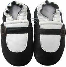 carozoo Mary Jane black 18-24m soft sole leather baby shoes