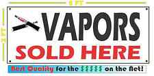 VAPORS SOLD HERE Full Color Banner Sign 4 e-CIG Smoke Shop Electronic Cigarette