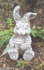 Latex only rabbit with pot  mold plaster concrete casting garden mould
