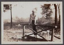 VINTAGE 1929 CLEVELAND OHIO FIREMANS FIRE DEPARTMENT DOG RAT TERRIER  OLD PHOTO