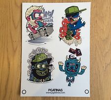 STICKERS SET 20 X 15 CMS PEGATINA SKATEBOARDS DC ELEMENT VINILO COOL AUFKLEBER