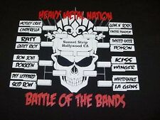 NEW HEAVY METAL HAIR BANDS BRACKET BATTLE T SHIRT Sz XL RATT DOKKEN SKID ROW GnR