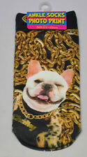 White STAFFY Bull Terrier DOG New Trainer SOCKS; Size 3-7, 1 pr 3D Digital Photo