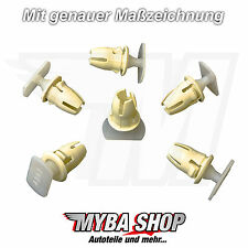 15x support clip MERCEDES Carénage Colliers Fixation Clips 19887681 Nouveau