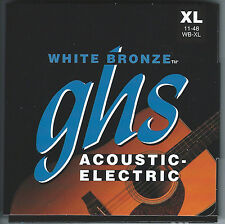 GHS WB-XL White Bronze acoustic guitar strings, Extra Light .011-.048