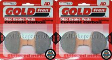 GOLDFREN FRONT BRAKE PADS (2x Sets) * HARLEY-DAVIDSON * GIRLING CALIPER * (1987)