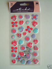 STICKO DIMENSIONAL STICKERS - LITTLE LADYBUGS ladybirds